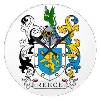 Escudo de la familia de Reece Reloj Redondo Grande