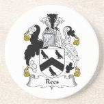 Escudo de la familia de Rees Posavasos Manualidades