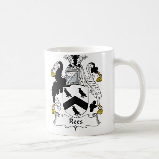Escudo de la familia de Rees Taza De Café