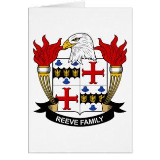 Escudo de la familia de Reeve Tarjeta De Felicitación