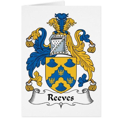 Escudo de la familia de Reeves Felicitacion