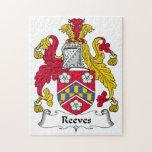 Escudo de la familia de Reeves Puzzle Con Fotos
