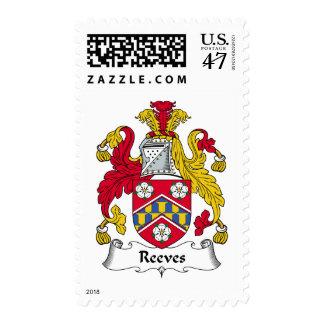 Escudo de la familia de Reeves Timbre Postal