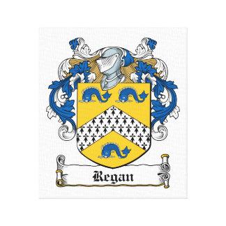 Escudo de la familia de Regan Impresión En Lienzo Estirada