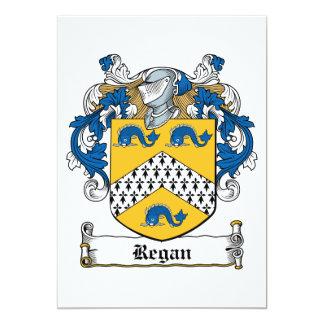 """Escudo de la familia de Regan Invitación 5"""" X 7"""""""
