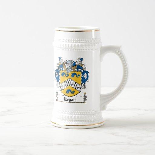Escudo de la familia de Regan Jarra De Cerveza