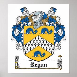 Escudo de la familia de Regan Póster