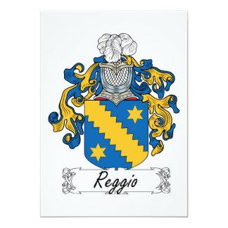 """Escudo de la familia de Reggio Invitación 5"""" X 7"""""""