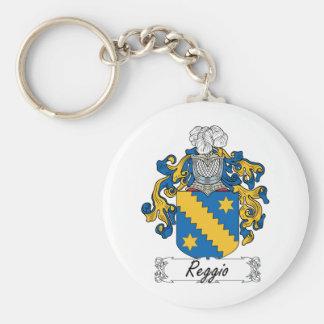 Escudo de la familia de Reggio Llavero Redondo Tipo Pin