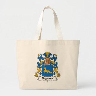 Escudo de la familia de Regnard Bolsas Lienzo