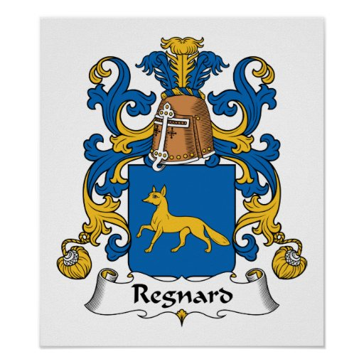 Escudo de la familia de Regnard Poster