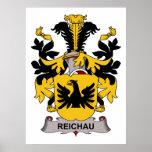 Escudo de la familia de Reichau Posters