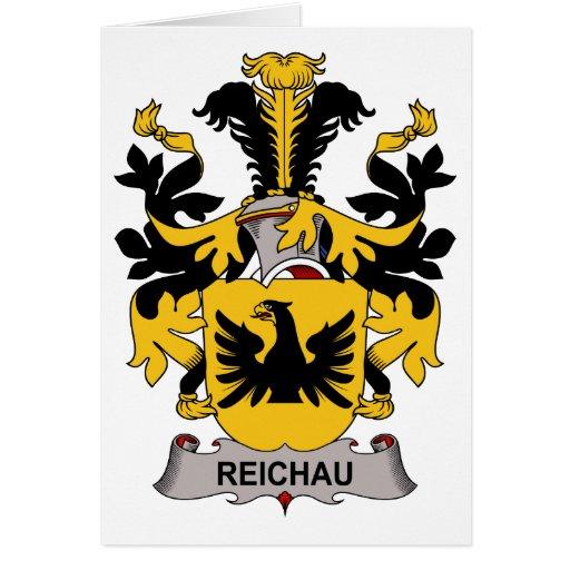 Escudo de la familia de Reichau Tarjeta De Felicitación