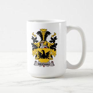 Escudo de la familia de Reichau Taza Básica Blanca