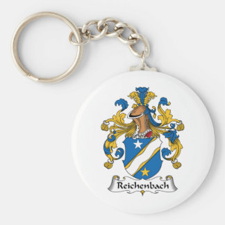 Escudo de la familia de Reichenbach Llavero Redondo Tipo Pin