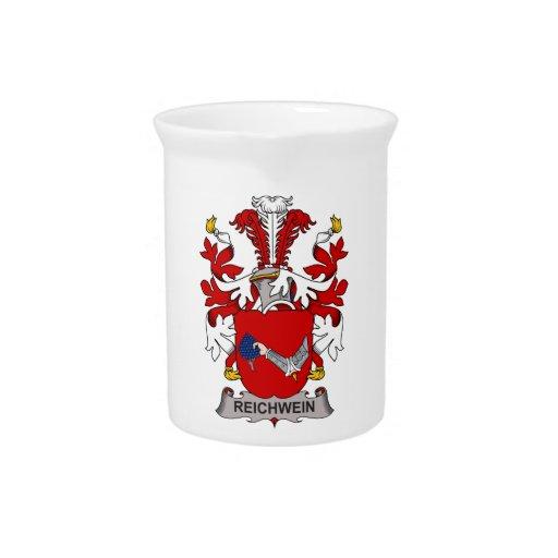 Escudo de la familia de Reichwein Jarra Para Bebida