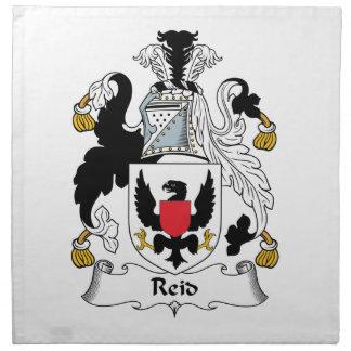 Escudo de la familia de Reid Servilleta Imprimida