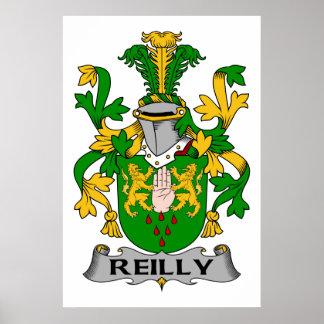 Escudo de la familia de Reilly Poster