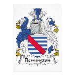 Escudo de la familia de Remington Invitación Personalizada