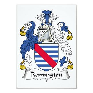 """Escudo de la familia de Remington Invitación 5"""" X 7"""""""