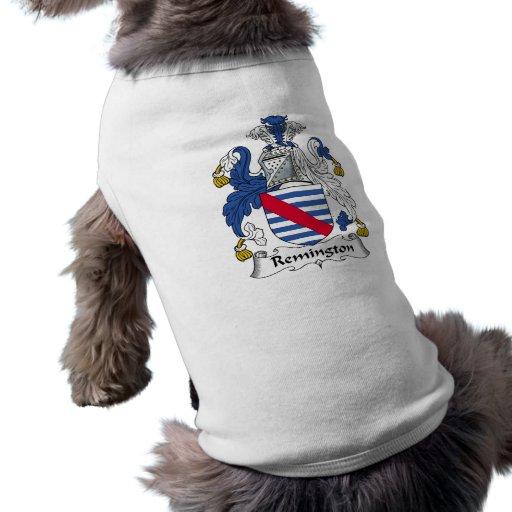 Escudo de la familia de Remington Camisa De Mascota