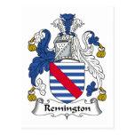 Escudo de la familia de Remington Tarjeta Postal