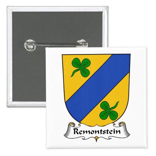 Escudo de la familia de Remontstein Pin Cuadrado