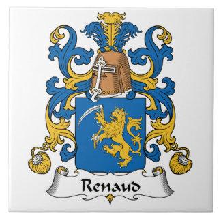 Escudo de la familia de Renaud Azulejo Cuadrado Grande