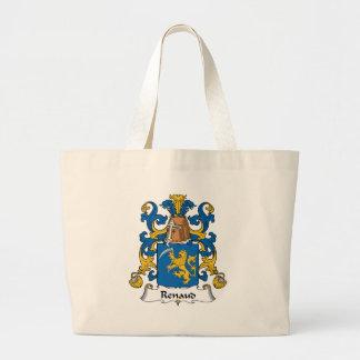 Escudo de la familia de Renaud Bolsa Tela Grande