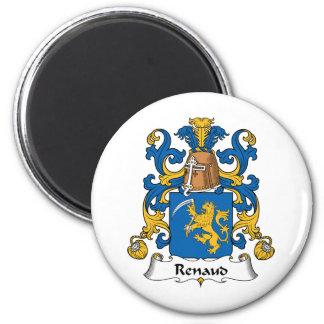 Escudo de la familia de Renaud Imán Redondo 5 Cm