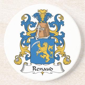 Escudo de la familia de Renaud Posavasos Manualidades