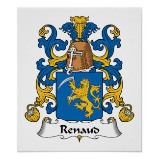 Escudo de la familia de Renaud Póster