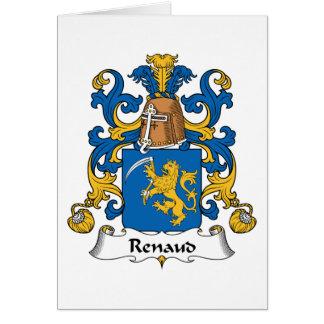 Escudo de la familia de Renaud Tarjeta De Felicitación