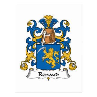 Escudo de la familia de Renaud Tarjetas Postales