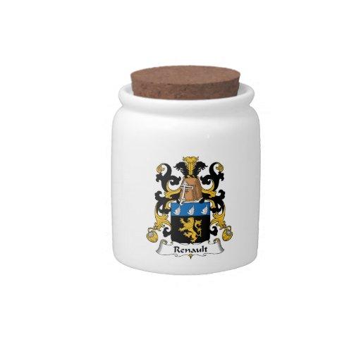 Escudo de la familia de Renault Platos Para Caramelos