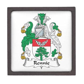 Escudo de la familia de Rennie Cajas De Joyas De Calidad
