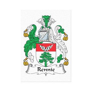 Escudo de la familia de Rennie Impresiones En Lienzo Estiradas