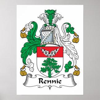 Escudo de la familia de Rennie Poster
