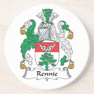 Escudo de la familia de Rennie Posavasos Diseño
