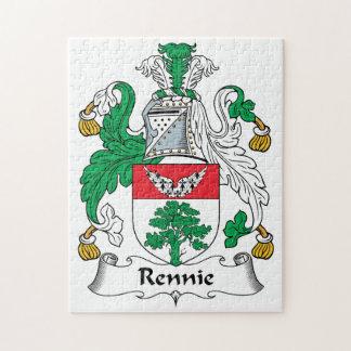 Escudo de la familia de Rennie Rompecabezas Con Fotos