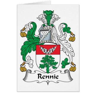 Escudo de la familia de Rennie Felicitación