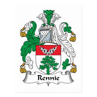 Escudo de la familia de Rennie Tarjetas Postales