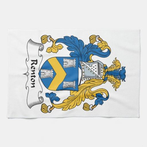 Escudo de la familia de Renton Toallas De Mano