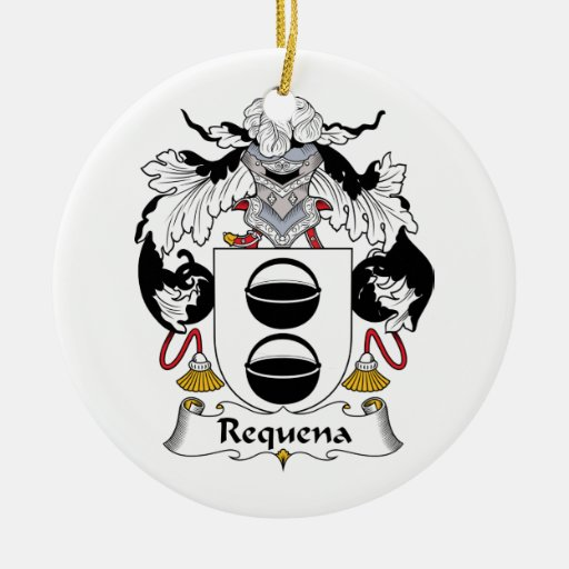 Escudo de la familia de Requena Adorno Redondo De Cerámica