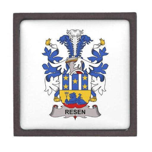 Escudo de la familia de Resen Caja De Joyas De Calidad