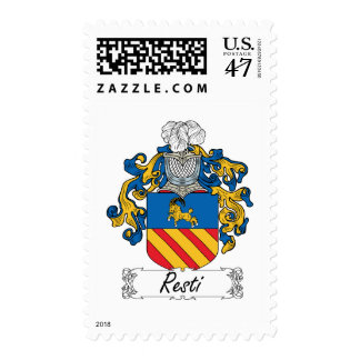 Escudo de la familia de Resti Timbres Postales