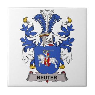 Escudo de la familia de Reuter Azulejo Cerámica