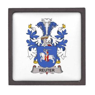 Escudo de la familia de Reuter Caja De Recuerdo De Calidad