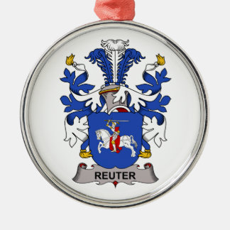 Escudo de la familia de Reuter Ornamentos De Navidad
