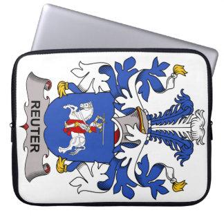 Escudo de la familia de Reuter Funda Portátil
